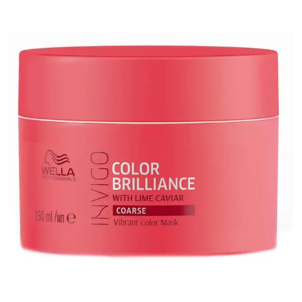 Masca pentru Par Vopsit, Aspru - Wella Professionals Invigo Color Brilliance Vibrant Color Mask Coarse Hair, 150ml poza