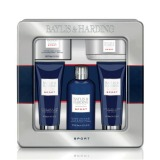 Set Cadou Baylis & Harding Men's Citrus Lime & Mint 5 Piece Tin Set - Lotiune de Curatare pentru Par si Corp 300ml, Gel de Dus 130ml, Balsam Aftershave 130ml, Sapun 150g, Prosop de Fata