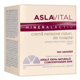 Crema Netezire Riduri, de Noapte - Aslavital Mineralactiv Wrinkle Smoothing Cream Night, 50ml