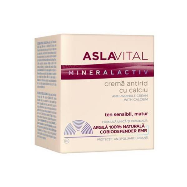 Crema Antirid cu Calciu - Aslavital Mineralactiv Anti-Wrinkle Cream with Calcium, 50ml poza