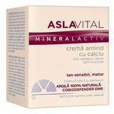 Crema Antirid cu Calciu - Aslavital Mineralactiv Anti-Wrinkle Cream with Calcium, 50ml