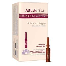 Fiole cu Colagen - Aslavital Mineralactiv Collagen Ampoules, 10 fiole x 2ml