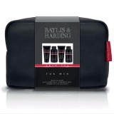 Set Cadou Baylis & Harding Men's Skin Spa Wash Bag - Lotiune de Curatare pentru Par si Corp 100ml, Gel de Dus 50ml, Balsam Aftershave 50ml, Lotiune de Curatare pentru Ten 100ml