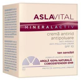 Crema Antirid Antipoluare SPF 10 - Aslavital Mineralactiv Anti-Wrinkle Anti-Pollution Cream, 50ml