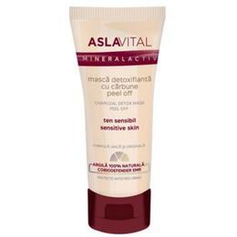 Masca Detoxifianta cu Carbune Peel Off - Aslavital Mineralactiv Charcoal Detox Mask Peel Off, 100ml