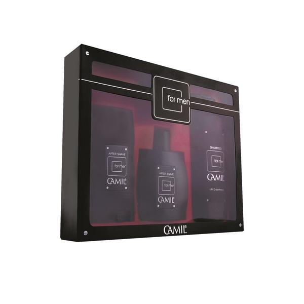 Set cadou 3 produse pentru el sampon 200 ml, aftershave 100 ml, stick 65 gr imagine produs