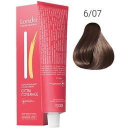 Vopsea Demi-Permanenta - Londa Professional Demi-Permanent Color Creme Extra Coverage, nuanta 6/07 Blond inchis natural, 60 ml