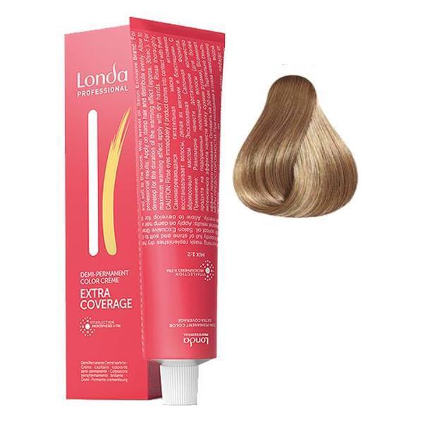 Vopsea Demi-Permanenta - Londa Professional Demi-Permanent Color Creme Extra Coverage, nuanta 8/07 Blond deschis natural, 60 ml imagine