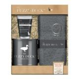 Set Cadou Men's Fuzzy Duck Cedarwood & Wild Sage Mug Set - Balsam pentru Picioare 50ml, Cana Ceramica, Sosete