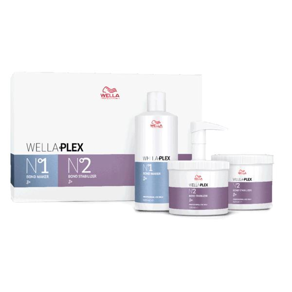 Kit Tratamente pentru Par Vopsit sau Decolorat - Wella Professionals Wellaplex Salon Kit, 3 x 500ml imagine produs