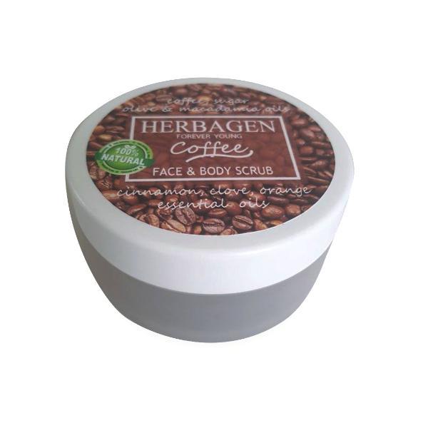 Scrub cu Cafea pentru Fata si Corp Herbagen, 100g imagine produs