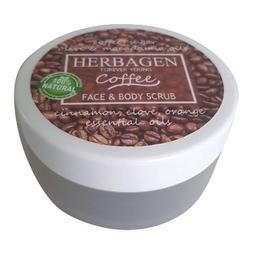Scrub cu Cafea pentru Fata si Corp Herbagen, 100g