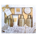Set Cadou Baylis & Harding Sweet Mandarin & Grapefruit Ultimate Bathing Gift Set - Gel de Dus 300ml, Crema de Dus 300ml, Lapte de Baie 300ml, Cristale de Baie 100g, Lotiune de Maini si Corp 130ml, Sapun 150g