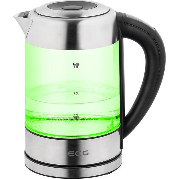 Cana fierbator din sticla ECG RK 1777 iluminare colora, 1,7 L, 2200 W, LED