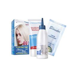 Decolorant pentru par Max Blond nr.3 - pudra decoloranta 22g, oxidant 65 ml, balsam 15 ml