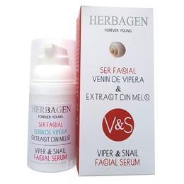 Ser Facial cu Venin de Vipera si Extract din Melc Herbagen, 30g