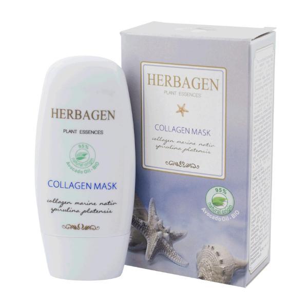 Masca cu Colagen Marin si Spirulina Herbagen, 50g imagine produs