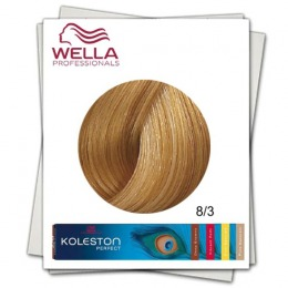 Vopsea Permanenta - Wella Professionals Koleston Perfect nuanta 8/3 blond deschis auriu