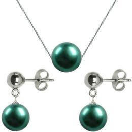 Set Aur Alb si Perle Premium Verde Smarald - Cadouri si Perle
