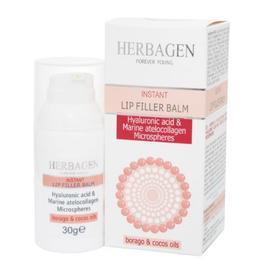 Balsam de Buze Filler cu Sfere de Acid Hialuronic si Colagen Marin Herbagen, 30g