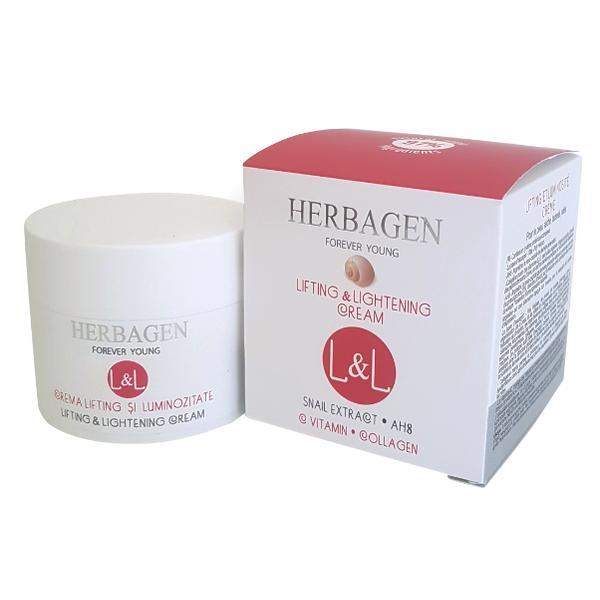 Crema Lifting si Luminozitate cu Extract din Melc L&L Herbagen, 50g