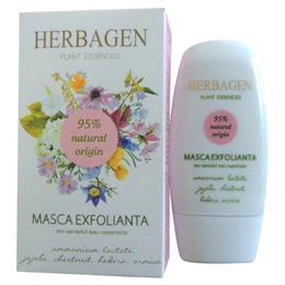 Masca Exfolianta pentru Ten Sensibil sau Cuperozic Herbagen, 50g