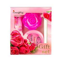 Set cadou Rose cu sapun 35g, crema de fata 100 ml si crema de maini 75 ml - Fine Perfumery