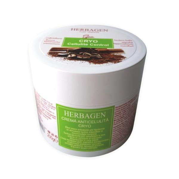 Crema Anticelulitica cu Efect de Racire Cryo Herbagen, 200g imagine produs