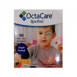 Plasturi Oculari Pediatrici Sterili Baieti - Octamed OctaCare Pediatric Eye Pad, 5cm x 6.2cm, 50 buc