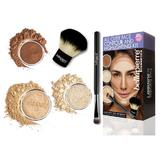 Set truse machiaj All Over Face Highlight & Contour - Medium BellaPierre