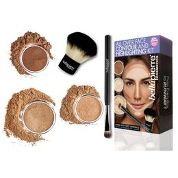 Set truse machiaj - All Over Face Highlight & Contour - Dark BellaPierre