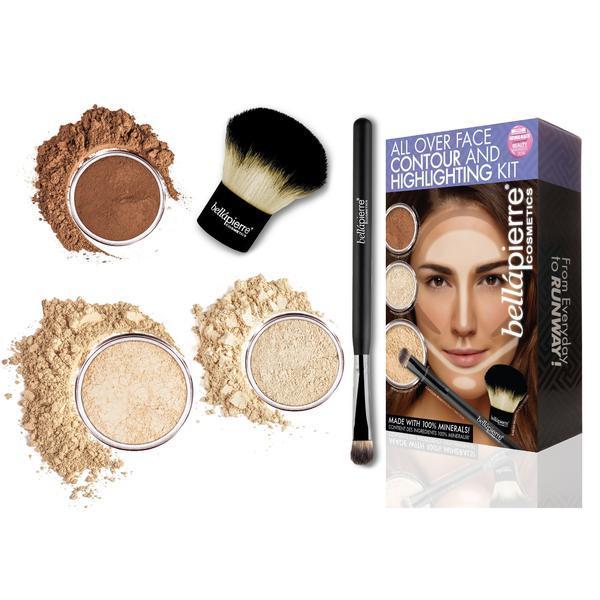 Set truse machiaj - All Over Face Highlight & Contour - Fair BellaPierre imagine produs