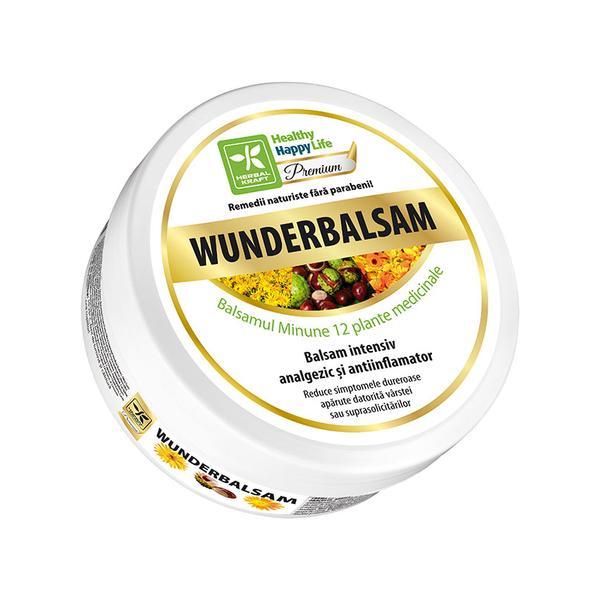 Balsam analgezic si antiinflamator din 12 plante medicinale Healthy Happy Life, 100 ml imagine produs