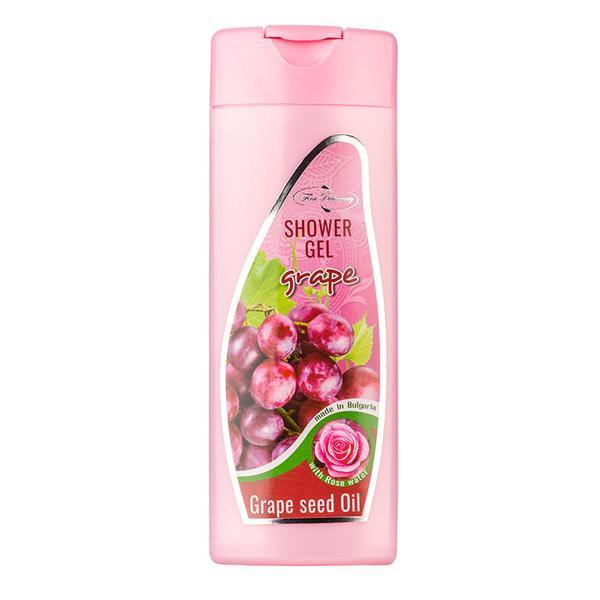 Gel de dus cu ulei de struguri si apa de trandafiri Fine Perfumery, 200 ml poza