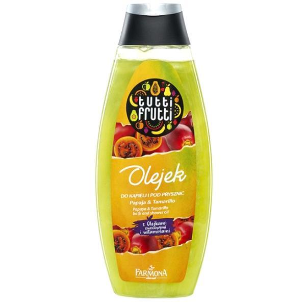 Gel de Baie si Dus Papaya si Tamarillo - Farmona Tutti Frutti Papaya & Tamarillo Bath and Shower Gel, 425ml poza