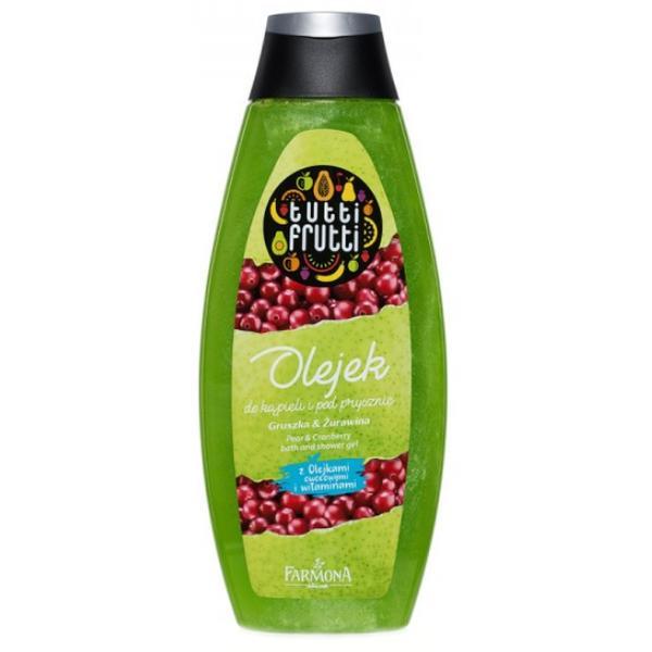 Gel de Baie si Dus cu Pere si Merisoare - Farmona Tutti Frutti Pear & Cranberry Bath and Shower Gel, 425ml imagine produs