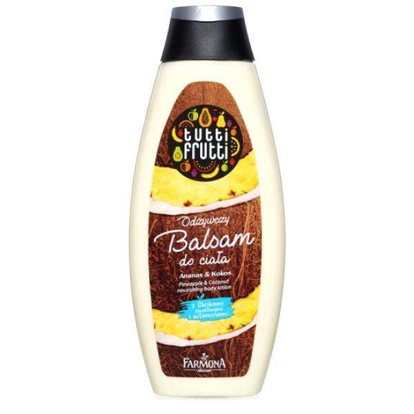 Lotiune Nutritiva de Corp cu Ananas si Cocos - Farmona Tutti Frutti Pineapple & Coconut Nourishing Body Lotion, 425ml poza
