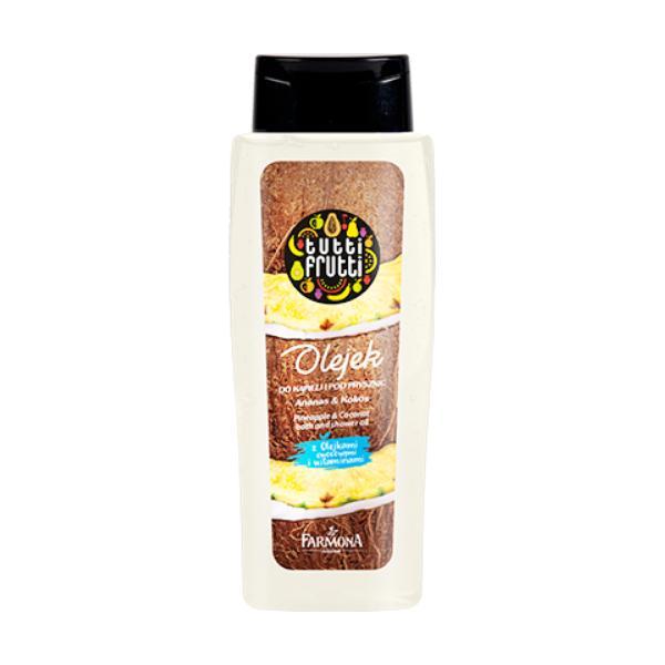 Gel de Baie si Dus Ananas si Cocos - Farmona Tutti Frutti Pineapple & Coconut Bath and Shower Gel, 100ml imagine produs