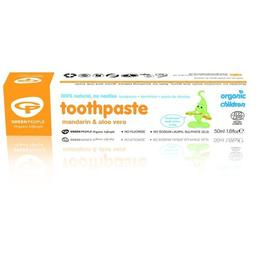 Pasta de dinti cu mandarine pt. bebelusi, homeopata, Green People, 50 ml
