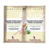 Exfoliant pentru corp, cu orez, baobab si aloe vera, Secrets des Fees, 2x2.5g