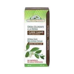 Vopsea henna crema, semipermanenta - culoare Castaniu Corpore Sano, 60 ml