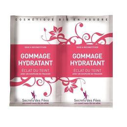Exfoliant facial hidratant, cu capsuni, aloe vera si morcov, pt. ten radinat, Secrets des Fees, 2x4g