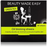 Masca de fata - Foite matifiante, cu ceai verde, pentru ten, Beauty Made Easy, 80 buc