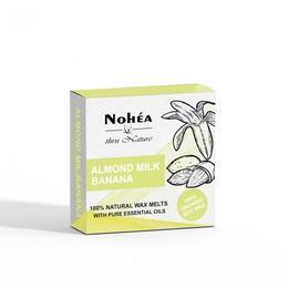 Pastile parfumate din ceara de soia, Almond Milk Banana, Nohea, 40g