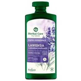 Gel Relaxant de Baie si Dus cu Lavanda si Lapte de Vanilie - Farmona Herbal Care Lavender with Vanilla Milk Relaxing Bath, 500ml