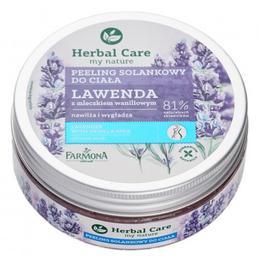 Exfoliant de Corp cu Sare, Lavanda si Lapte de Vanilie - Farmona Herbal Care Lavender with Vanilla Milk Salt Body Scrub, 220g