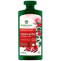 Gel Nutritiv de Baie si Dus cu Trandafir Salbatic si Ulei de Perilla - Farmona Herbal Care Wild Rose with Perilla Oil Nourishing Bath, 500ml