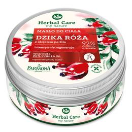 Unt Regenerant de Corp cu Trandafir Salbatic si Ulei de Perilla - Farmona Herbal Care Wild Rose with Perilla Oil Regenerating Body Butter, 200ml