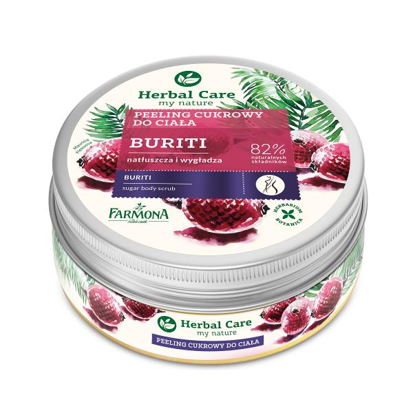 Exfoliant de Corp cu Zahar si Buriti - Farmona Herbal Care Buriti Sugar Body Scrub, 220g imagine produs