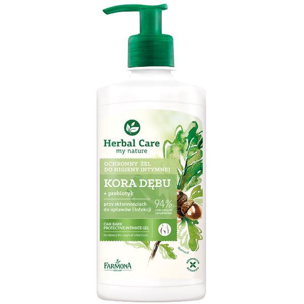Gel Protector pentru Igiena Intima cu Extract de Coaja de Stejar - Farmona Herbal Care Oak Bark Protective Intimate Gel, 330ml poza